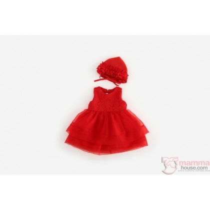 Baby Clothes - Dress Lace Elegant Red or White