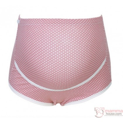 Maternity Panties - Romance Dot Pink Dark