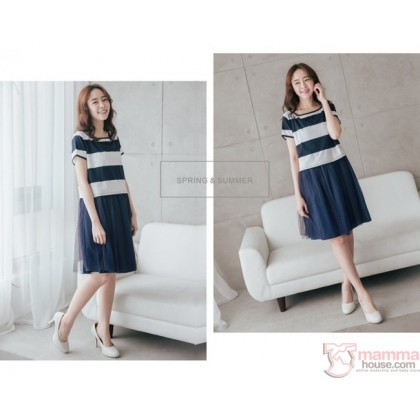 Nursing Dress - Yarn Dark Blue or Black
