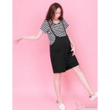 Nursing Set - 2pcs Strap Stripe Black