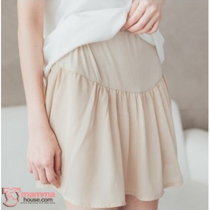 Maternity Shorts - Chiffon Almond