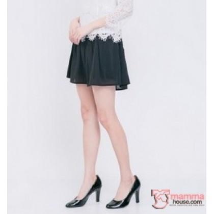 Maternity Shorts - Chiffon Black