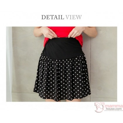 Maternity Shorts - Polka Black