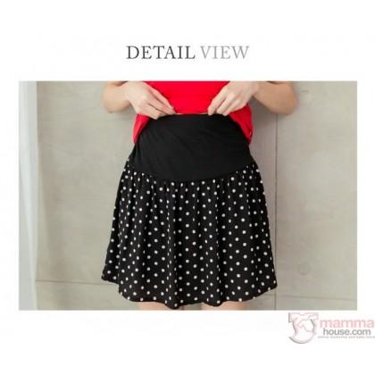 Maternity Shorts - Polka Black