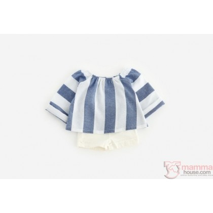 Baby Clothes - Vert Stripe Blue (1 est)