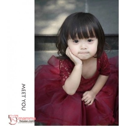 Baby Clothes - Dress Breathable Lace Maroon or White
