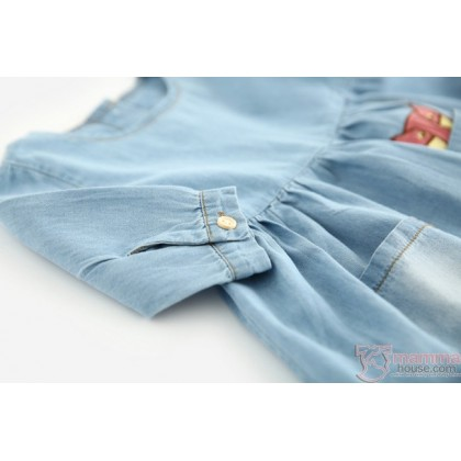 Baby Clothes - Dress Denim Wolf