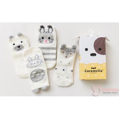 Baby Socks - Japanese Cute Socks (box 4 pairs set)