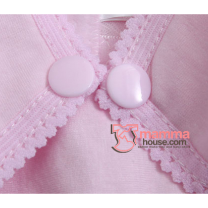 Nursing Bra - Button Pure Pink (32,70 to 42,95)
