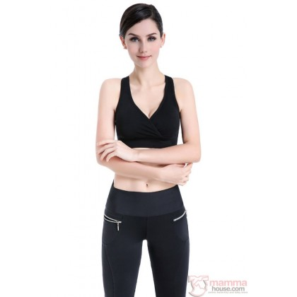 T Nursing Bra - Sport Cross Black