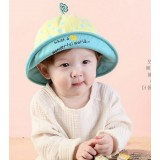 Baby Hat - Polka Flower Yellow