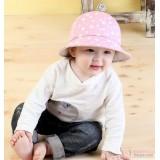 Baby Hat - Polka Flower Pink