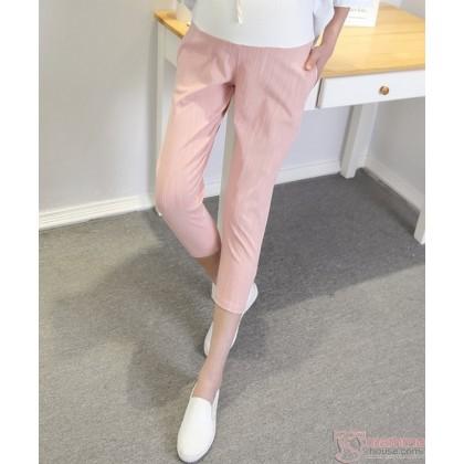 Maternity Pants - 7 Cotton Pink