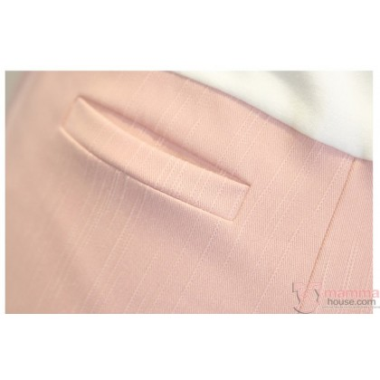 Maternity Pants - 7 Cotton Pink