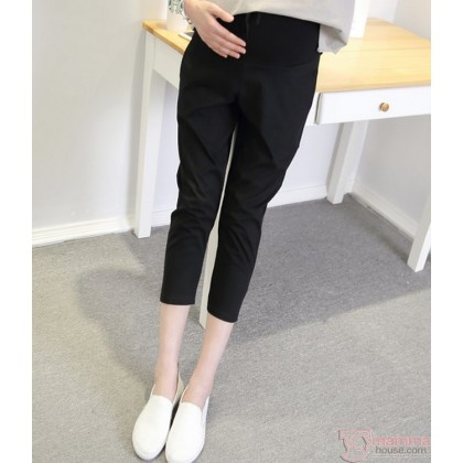 Maternity Pants - 7 Cotton Black