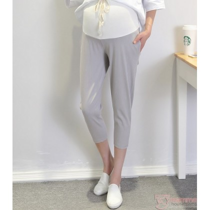 Maternity Pants - 7 Cotton Grey