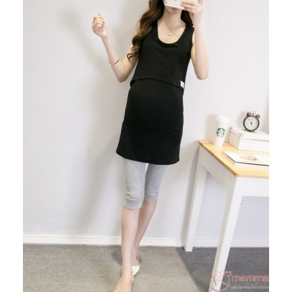 Nursing Singlet - Simple Singlet Black Long