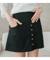 Maternity Shorts - Front Button Dress Like Black