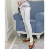 Maternity Legging - Long Slim Legging White