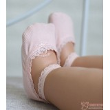 Baby Socks - Korean Lace Boat Pink