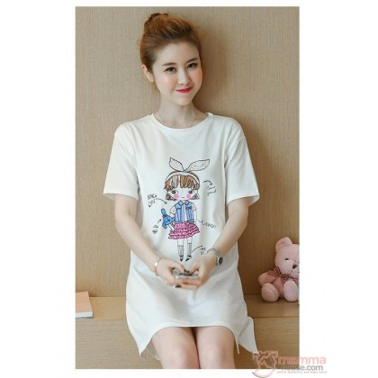 Nursing Tops - Cotton Girl White