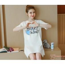 Nursing Tops - Cotton Heart White