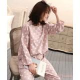 Mamma Pajamas - Long Polka Orange Pink
