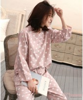 Mamma Pajamas - Long Polka Pink