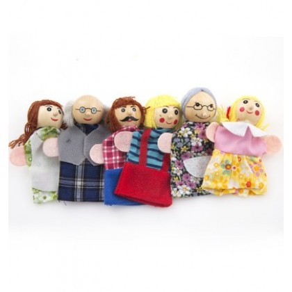 Baby Finger Doll - family 1 set (6 pcs)