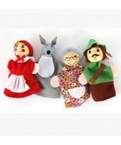 Baby Finger Doll -  Little Red Riding Hood (1 set  4pcs)