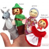 Baby Finger Doll -  Little Red Riding Hood (1 set  4pcs)