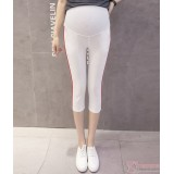 Maternity Pants - Side Line White