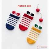 Baby Socks - Korean 3pairs Set Cute