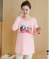 Maternity Tops - Long Baby Pink