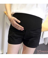 Maternity Shorts - Black Shorts Fold