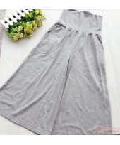 Maternity Long Pants - JP Cotton Trumpet Grey