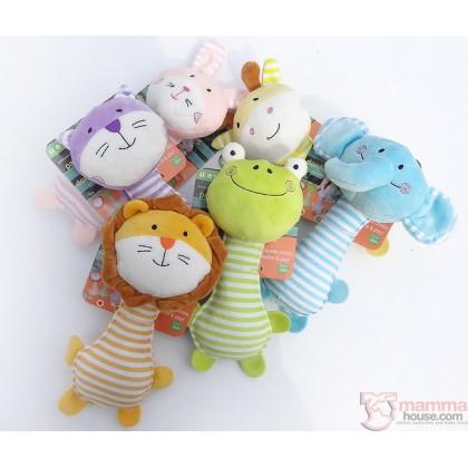 Baby Rattles - Soft Animals