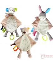 Baby Comforter - Bear, Monkey or Donkey (2 colors)