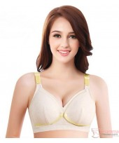 X Nursing Bra - Breathable Yellow Beige