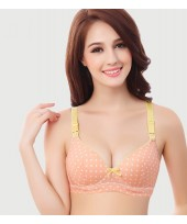 T Nursing Bra - Hook Polka Orange