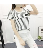 Nursing Tops - Chief Stripe Black