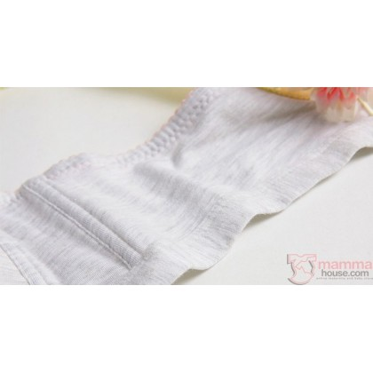X Nursing Bra - Button Padded Stripe Grey