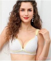 X Nursing Bra - Button Padded Grey Light