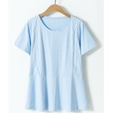 Nursing Tops - Plain Light Blue