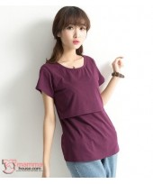 Nursing Tops - Cotton Maroon