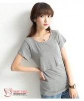 Nursing Tops - Cotton Grey
