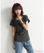 Nursing Tops - Cotton Dark Grey
