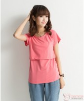 Nursing Tops - Cotton Red