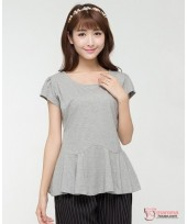 Nursing Tops - Blouse Grey