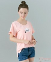 Nursing Tops - Star Orange Pink